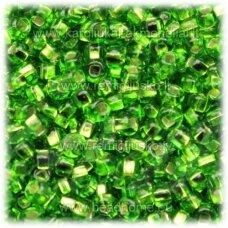 pccb331/29001/57430-08/0 2.8 - 3.2 mm, apvali forma, skaidrus, žalia spalva, viduriukas su folija, kvadratinė skylė, apie 50 g.