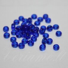 pccb331/29001/60300-08/0 2.8 - 3.2 mm, apvali forma, skaidrus, mėlyna spalva, kvadratinė skylė, apie 50 g.