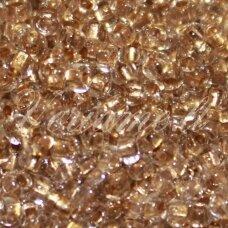 pccb331/29001/68106-11/0 2.0 - 2.2 mm, apvali forma, skaidrus, ruda spalva, viduriukas su folija, apie 50 g.