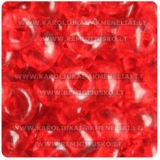 pccb331/29001/90070-09/0 2.4 - 2.8 mm, apvali forma, skaidrus, raudona spalva, kvadratinė skylė, apie 50 g.