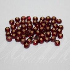 pccb331/29001/97090-08/0 2.8 - 3.2 mm, apvali forma, skaidrus, raudona spalva, kvadratinė skylė, viduriukas su folija, apie 50 g.