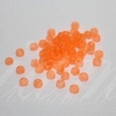 pccb39001/38789-07/0 3.2 - 3.7 mm, apvali forma, matinė, skaidrus, oranžinė spalva, apie 50 g.