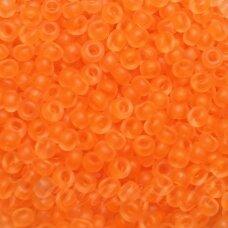 pccb39001/38789-10/0 2.2 - 2.4 mm, apvali forma, matinė, skaidrus, oranžinė spalva, apie 50 g.