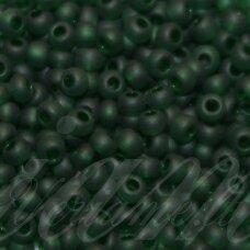 PCCB331/39001/50060-06/0 3.7 - 4.3 mm, apvali forma, matinė, skaidrus, tamsi, žalia spalva, apie 50 g.