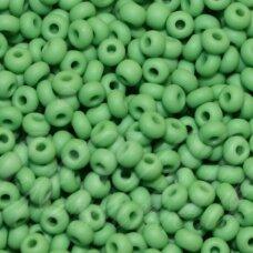 pccb39001/53230-11/0 2.0 - 2.0 mm, apvali forma, matinė, žalia spalva, apie 50 g.