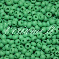 pccb39001/53250-10/0 2.2 - 2.4 mm, apvali forma, matinė, žalia spalva, apie 50 g.