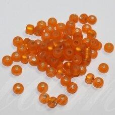 PCCB331/39001/97000-05/0 4.3 - 4.8 mm, apvali forma, matinė, oranžinė spalva, viduriukas sidabrinė spalva, apie 50 g.
