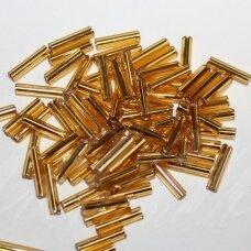"""PCCB351/12001/17050-2"""" 4.5 x 2 mm, pailga forma, auksinė spalva, viduriukas su folija, apie 50 g."""