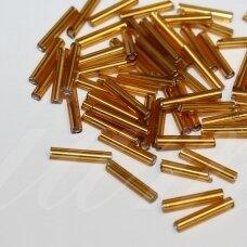 """pccb12001/17070-5"""" 11 x 2 mm, pailga forma, auksinė spalva, viduriukas su folija, apie 50 g."""