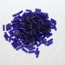 "pccb12001/30110-3"" 6.5 x 2 mm, pailga forma, tamsi, mėlyna spalva, apie 50 g."
