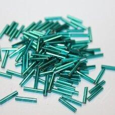 """PCCB351/12001/57710-5"""" 11 x 2 mm, pailga forma, žalia spalva, viduriukas su folija, apie 50 g."""