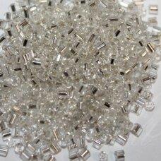 """pccb351/22001/78102-1"""" 2.2 x 1.4 mm, pailga forma, skaidrus, viduriukas su folija, apie 50 g."""
