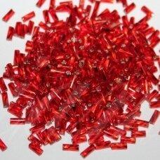 """pccb28001/97070-1"""" 2 x 2 mm, suktas, pailga forma, kvadratinė skylė, raudona spalva, viduriukas su folija, apie 50 g."""
