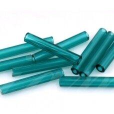 pccb321-11001-40/3mm-50710 40 mm, pailga forma, skaidrus, tamsi, žalia spalva, apie 50 g.