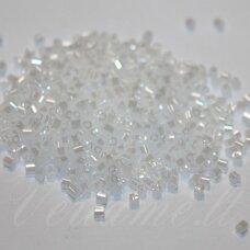 pccb351/31001/57102-12/0 1.5 x 1.4 mm, pailga forma, balta spalva, blizgi danga, apie 50 g.