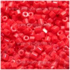 pccb351/31001/93190-11/0 1.7 x 1.9 mm, pailga forma, raudona spalva, apie 50 g.