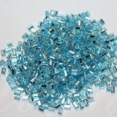 """pccb32001/67000-1.5"""" 3.5 x 1.5 mm, pailga forma, skaidrus, žydra spalva, viduriukas su folija, apie 50 g."""