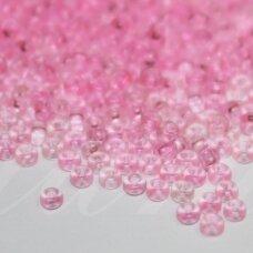 pccb00362-11/0 2.0 - 2.2 mm, apvali forma, skaidrus, rožinė spalva, apie 50 g.
