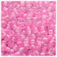 pccb38173-10/0 2.2 - 2.4 mm, apvali forma, skaidrus, šviesi, rožinė spalva, apie 50 g.