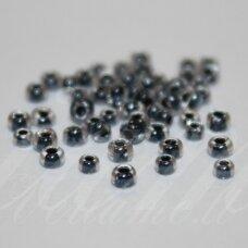pccb38649-10/0 2.2 - 2.4 mm, apvali forma, skaidrus, viduriukas juoda spalva, apie 50 g.