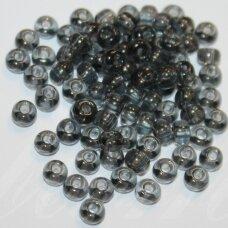 pccb40010-13/0 1.6 - 1.8 mm, apvali forma, skaidrus, juoda spalva, apie 50 g.