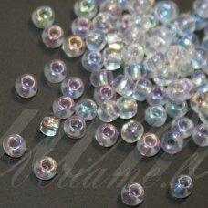 pccb58205-15/0 1.4 - 1.5 mm, apvali forma, skaidrus, blizgi danga, apie 50 g.
