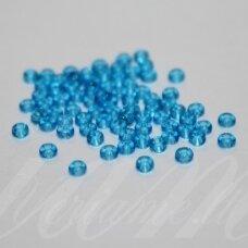 pccb60030-13/0 1.6 - 1.8 mm, apvali forma, skaidrus, šviesi, mėlyna spalva, apie 50 g.
