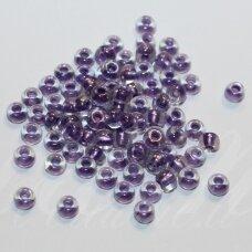 pccb68428-10/0 2.2 - 2.4 mm, apvali forma, skaidrus, ab danga, viduriukas violetinė spalva, apie 50 g.