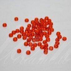 pccb90030-34/0 8.6 mm, apvali forma, skaidrus, oranžinė spalva, apie 50 g.