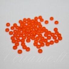 pccb93140-07/0 3.2 - 3.7 mm, apvali forma, oranžinė spalva, apie 50 g.