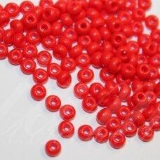 pccb93170-33/0 8 mm, apvali forma, raudona spalva, apie 50 g.