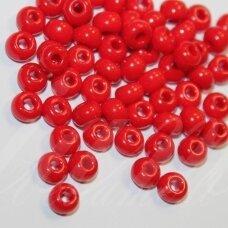 pccb93190-07/0 3.2 - 3.7 mm, apvali forma, tamsi, raudona spalva, apie 50 g.