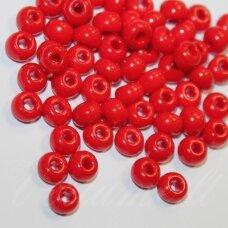 pccb93190-15/0 1.4 - 1.5 mm, apvali forma, tamsi, raudona spalva, apie 50 g.