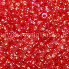 pccb97079-10/0 2.2 - 2.4 mm, apvali forma, raudona spalva, ab danga, apie 50 g.