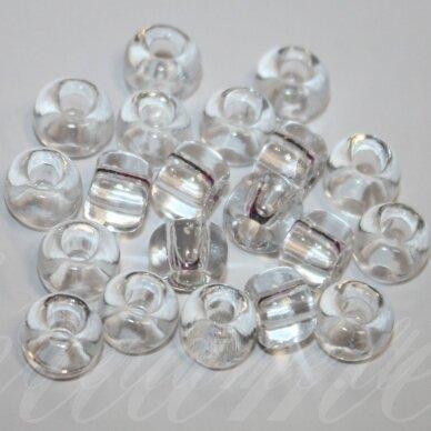 pccb00050-11/13 dydžių mix 2.0 - 2.2 mm, apvali forma, skaidrus, apie 50 g.