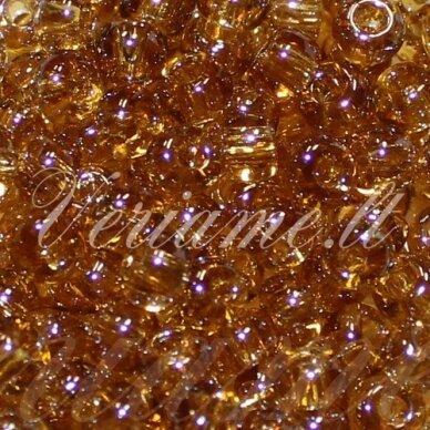 PCCB00158-06/0 3.7 - 4.3 mm, apvali forma, skaidrus, ruda spalva, blizgi danga, apie 50 g.
