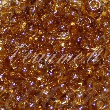 PCCB00158-06/0 3.7 - 4.3 mm, apvali forma, skaidrus, ruda spalva, blizgūs, apie 50 g.