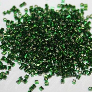 """pccb22001/57060-0.5"""" 1.5 x 3.1 mm, pailga forma, žalia spalva, viduriukas su folija, apie 50 g."""