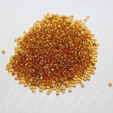 pccb29001/17050-11 2.0 - 2.2 mm mm, apvali forma, skaidrus, šviesi, ruda spalva, viduriukas su folija, ab danga, kvadratinė skylė, apie 50 g.