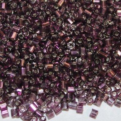 pccb31001/27060-10/0 2.2 - 2.2mm, pailga forma, skaidrus, violetinė spalva, viduriukas su folija, apie 50 g.