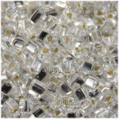 pccb321/43001/78102-2.5/2.5mm 2.5 x 2.5 mm, trikampio forma, skaidrus, viduriukas su folija, apie 50 g.