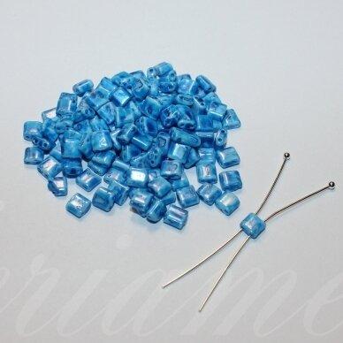 pccb321/94001/26236-5/5 apie 5 x 5 mm, marga, mėlyna spalva, apie 15 g.