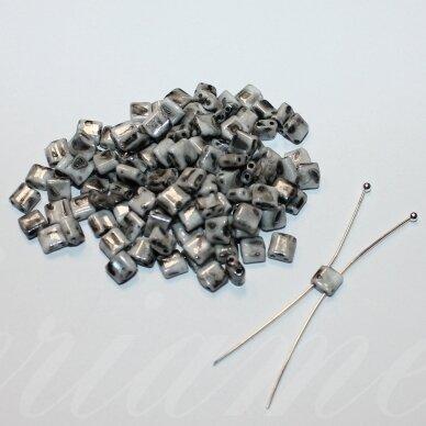 pccb321/94001/26249-5/5 apie 5 x 5 mm, marga, pilka spalva, apie 15 g.