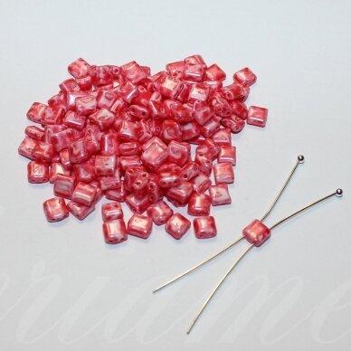 pccb321/94001/26298-5/5 apie 5 x 5 mm, marga, rožinė spalva, apie 15 g.