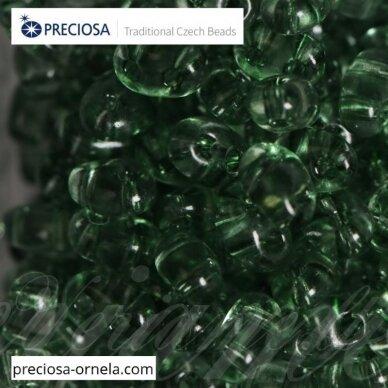 pccb321/96001/01163-2.5 x 3 x 5 mm, twin forma, skaidrus, blizgi danga, viduriukas žalia spalva, apie 20 g.