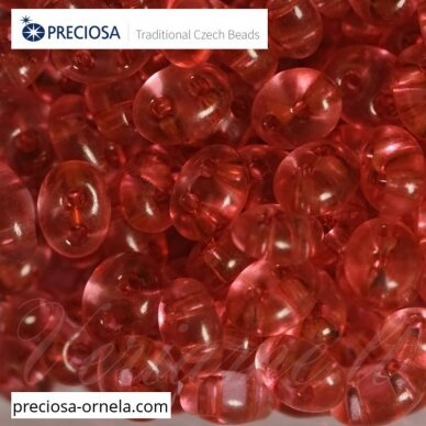 PCCB321/96001/01193-2.5 x 3 x 5 mm, twin forma, skaidrus, blizgūs, viduriukas, raudona spalva, apie 20 g.