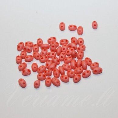 PCCB321/96001/09351-2.5 x 3 x 5 mm, twin forma, matinis, rožinė spalva, apie 20 g.