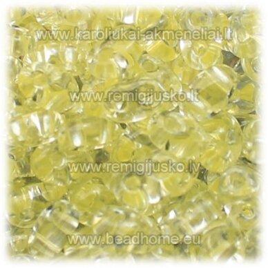pccb321/96001/38286-2.5 x 3 x 5 mm, twin forma, skaidrus, viduriukas geltona spalva, apie 50 g.