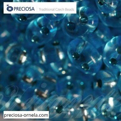 PCCB321/96001/78134-2.5 x 3 x 5 mm, twin forma, skaidrus, blizgūs, viduriukas, mėlyna spalva, apie 20 g.