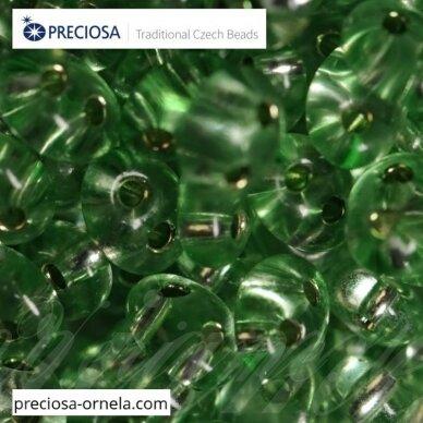 PCCB321/96001/78161-2.5 x 3 x 5 mm, twin forma, skaidrus, blizgi danga, viduriukas žalia spalva, apie 20 g.